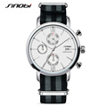 SINOBI Men s Military Sports Chronograph Brand Wrist Watches NATO Nylon Watchband Date Males Geneva Quartz