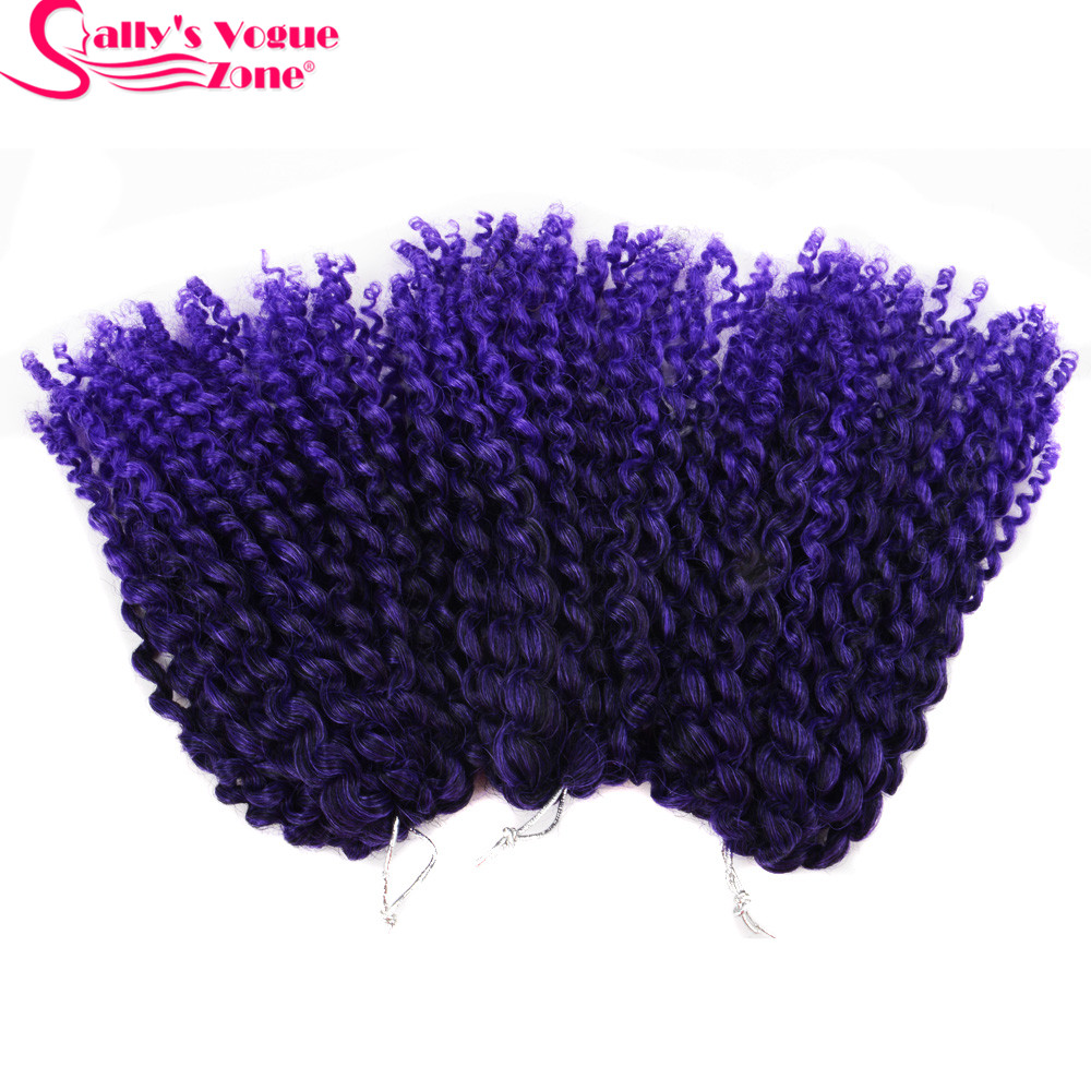 8Inch 3pcsset Crochet Braids Marlybob Hair Synthetic Kinky Twist Curly Crochet Braiding Hair Extensions Jumbo Twist Hair Styles (118)_