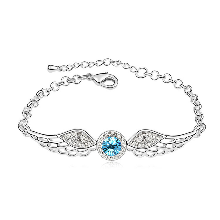 Hot Vintage Jewelry Angle Wings Bracelets Hand Chain for Women Made with Swarovski ELements Crystal from Swarovski(China (Mainland))