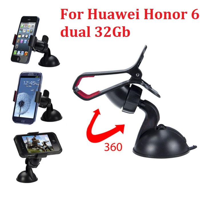 360 rotate Car Windshield Mount Cell Mobile Phone Holder Bracket Stands Huawei Honor 6 dual 32Gb GPS - My 3C Digital Accessories store