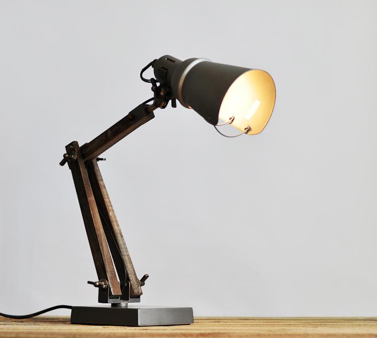 promotion quality vintage dulton plating finishing wood metal adjustable table lamps desk lights. Black Bedroom Furniture Sets. Home Design Ideas