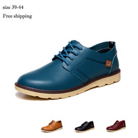 2015 4 colors men shoes leather stitching style lace-up men leather shoes wearable casual oxford shoes for men brand oxfords