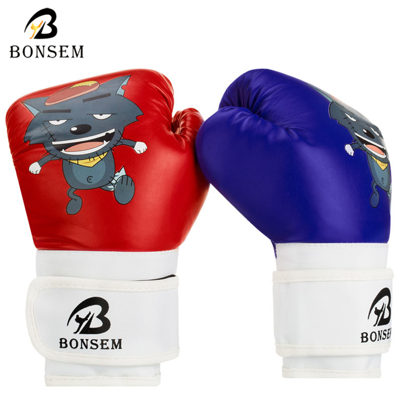 Ebuy360 BONSEM Best Kids Gifts PU Leather Cartoon Design Gloves Boxing Equipment Children Boxing Gloves(China (Mainland))