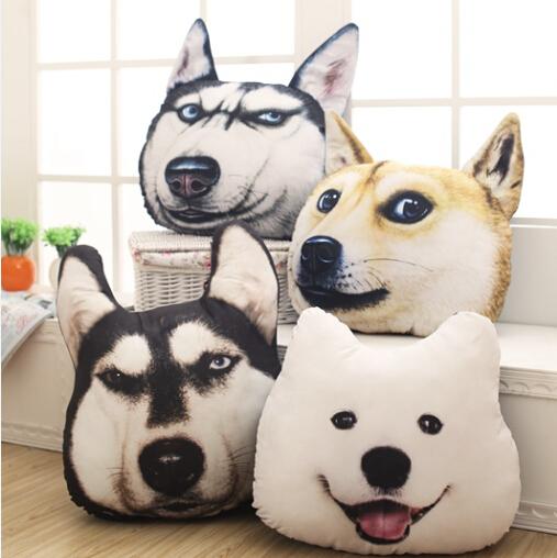 New Hot 3D Samoyed Husky Dog Plush Toys Dolls Stuffed Animal  Pillow Sofa Car Decorative Creative Birthday Gift YZT0091<br><br>Aliexpress