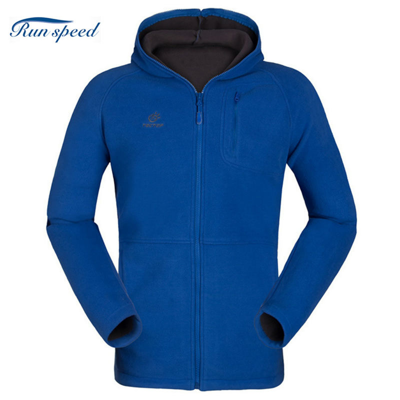 Outdoor Fleece Hooded Men Thicken Warmth Double-sided Composite Coat Windproof Breathable Softshell Hiking Jackets MZR007