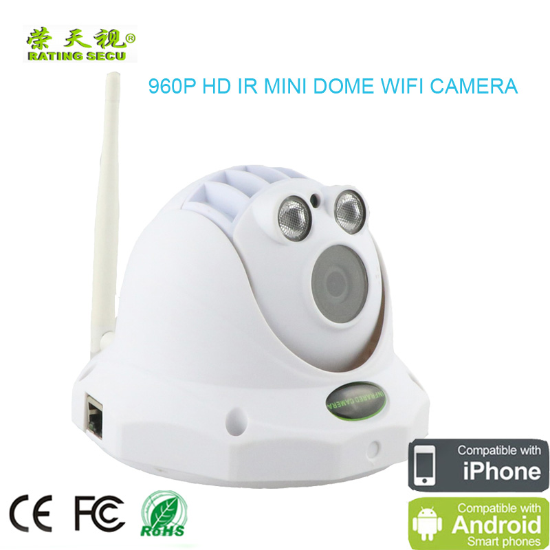 Wireless wifi ip camera 960P HD  mini dome cctv  ir ip cameras with TF card recording onvif ip network p2p surveillance camera