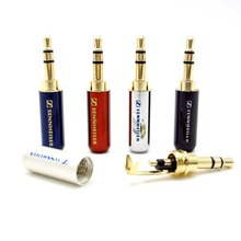 High Quality 4pcs/lot  3.5 mm Audio Jack Gold-plated Adapter Earphone plug For DIY Stereo Headset  Earphone