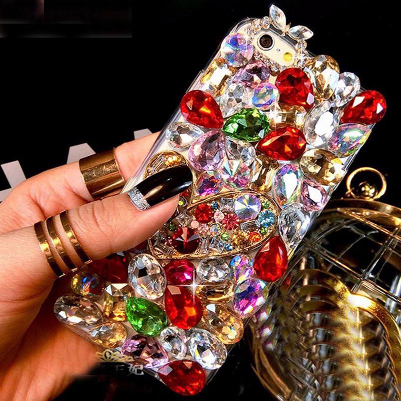 3D Rhinestones Hotfix Phone Cases Oneplus X One Plus X Jewelry Coque Fox Head Perfume Bottle N5 Decor Covers