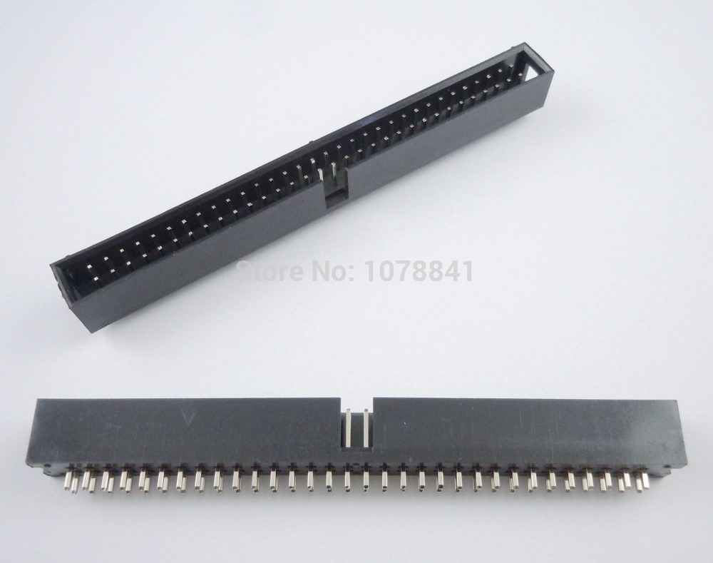 50 Pcs Per Lot 2.54mm 2x32 Pin 64 Pin Straight Male Shrouded PCB Box header IDC Socket<br><br>Aliexpress