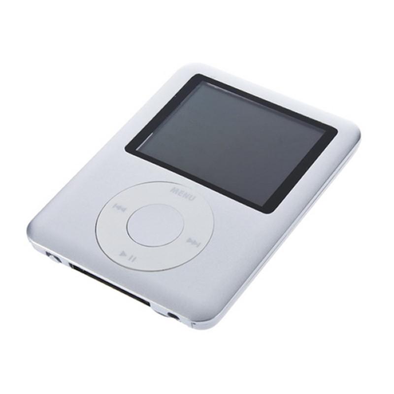 "Гаджет  1set 8GB 8G 1.8"" LCD Silver  MP3 MP4 FM Radio 3RD Gen Media Player Radio Stereo Headphone  Newest None Бытовая электроника"