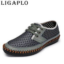 new 2016 Hollow out Breathable cowhide summer Genuine Leather High quality fashion shoes men male Casual shoe(China (Mainland))