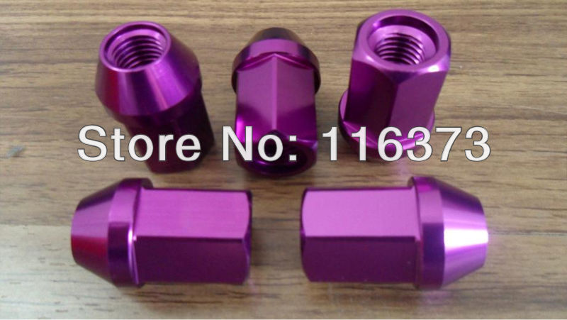 Free Shipping 20 Racing 7075 Aluminum lug nut 35mm for Plymouth Trailduster 1974 1975 1976 1977 1/2-20 THREAD SIZE(China (Mainland))