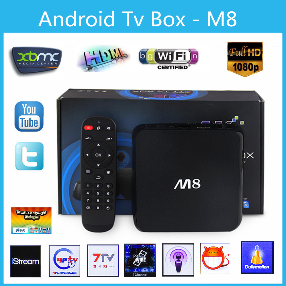 Original M8 Quad Core Amlogic S802 Cortex A9 2GB RAM 8GB Android 4.4 TV Box Wifi Google Smart TV Full HD Media Player 4K movie(China (Mainland))