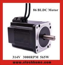 Brushless DC Motor 48VDC 300W 3000rpm Square Flange 86 mm - E-tech Industrial Co.,LTD store