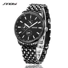 2016 SINOBI Watch Men Quartz-Watch Luxury Brand Full Steel Men's Watch Clock Male Waterproof Relogios Masculinos Montre Homme