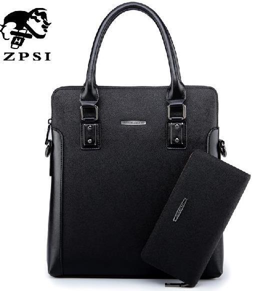 ZHENPISI The new purses and handbags High quality PU leather handbags tote Designer Men's Messenger Bag Buy one get one 9992(China (Mainland))