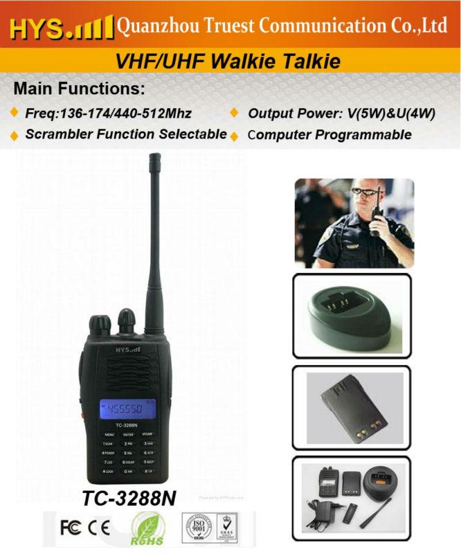 440-512mhz Two Way Radios TC-3288N Australian 220 volt plug Walkie Talkie(China (Mainland))