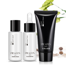 Buy Black Mask 3 1 Set Pilaten Blackhead Remover Acne Treatment Skin Toner Export Liquid Face Cleansing Facial Mask Drop for $12.90 in AliExpress store