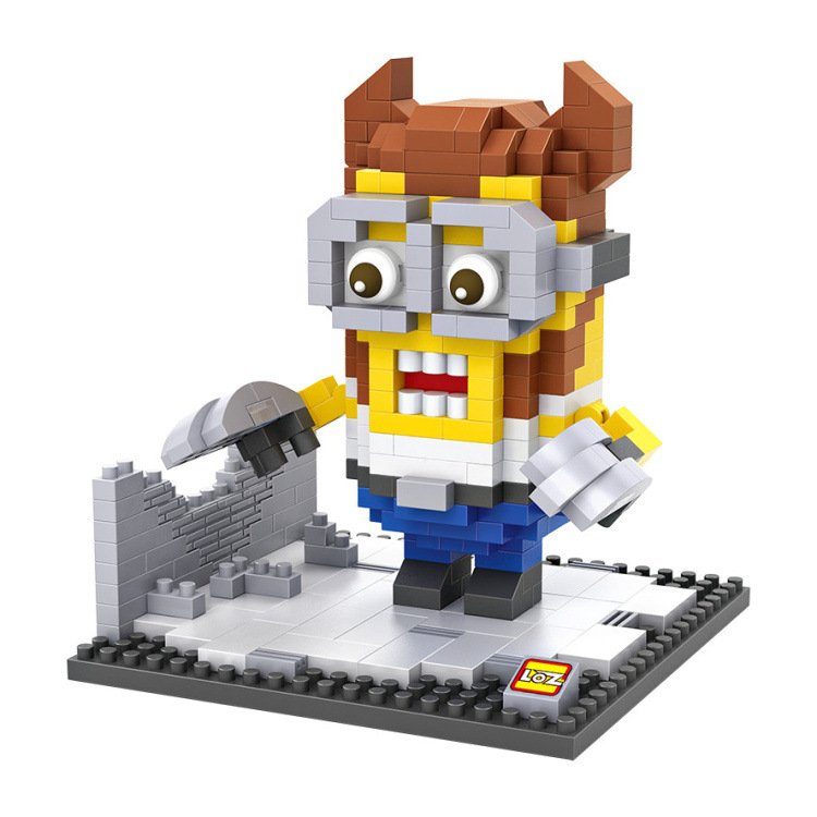 Minions Wolverine Mini Building Blocks Model PVC Kids Toys 3D DIY Model Plastic Brick Toys(China (Mainland))