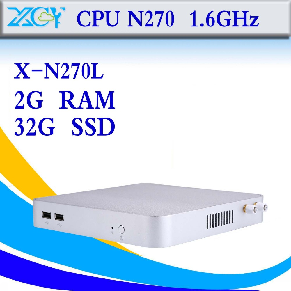 Cheapest Mini PC N270 2g ram 16g ssd Thin Client Mini PC Computer Mini PC Windows 7 Thin Client With 32 Bit Cheap Mini PC