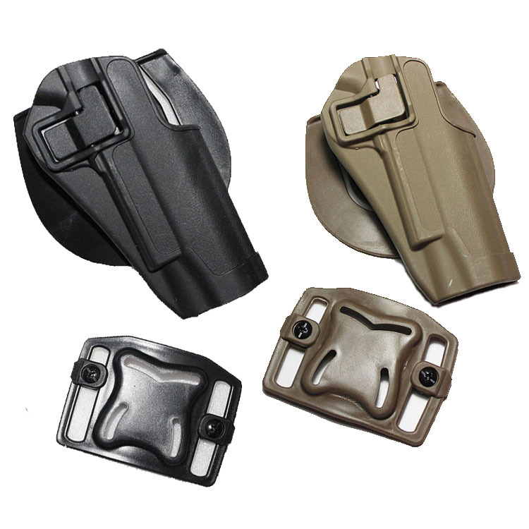 M1911 type pistol Tactical Airsoft Paintball Feld game CQC Right hand Holster W/ Waist Paddle Belt Loop Black / Sand - Python store