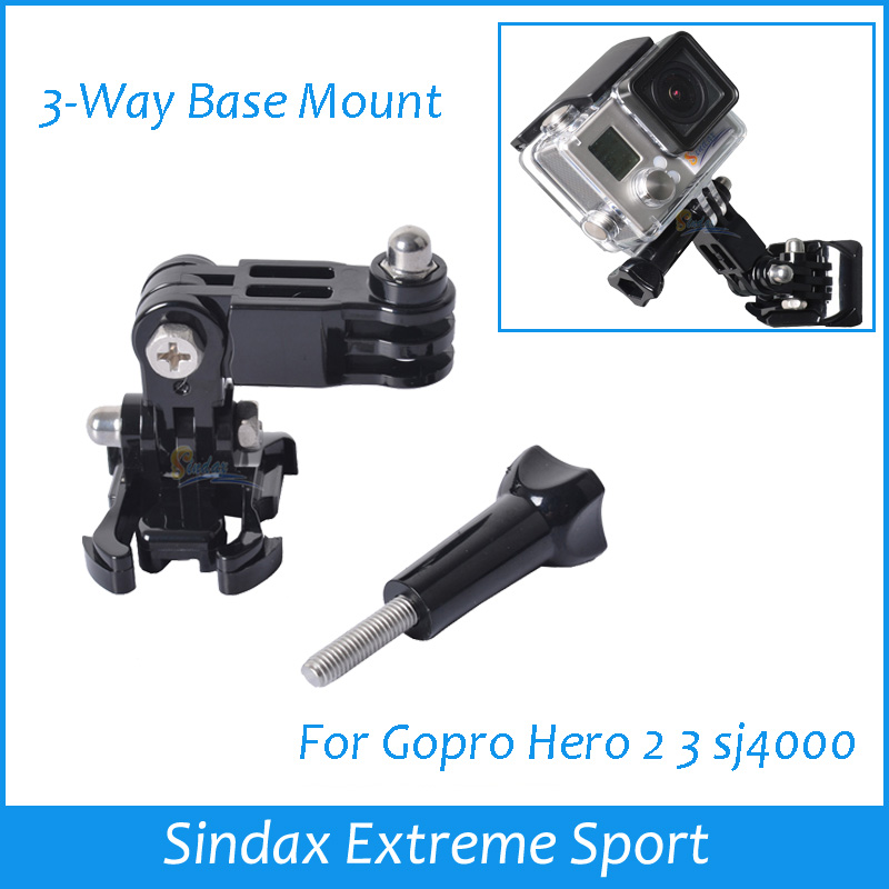 2014 New Arrival 3-Way Adjustment Base Mount For Chest Strap Shoulder Belt For GoPro HD Hero 2 3 SJ4000 Accessories(China (Mainland))