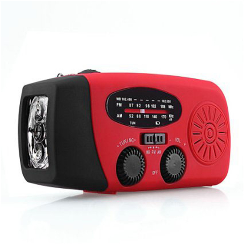 New Solar FM Radio Multifunctional Hand Crank Phone Charger Emergency Generator Flashlight 3 LED Lighting Lamp AM/FM/WB Radio(China (Mainland))