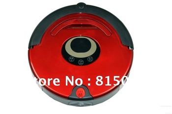 4 In 1 Multifunctional Robot Vacuum Cleaner, LCD Screen,Touch Button,Schedule,Virtual Wall,Auto Chargin Free Shipping