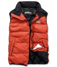 Men stand collar down jacket vest sports outdoor winter packable & portable duck down jacket no sleeve thermal vest ultra light(China (Mainland))