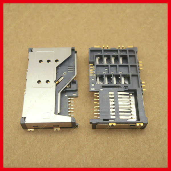 20pcs/lot Brand new 3 IN 1 Micro SIM Card Holder Sim Memory Card For Lenovo A60 P700 P700I A789 A65