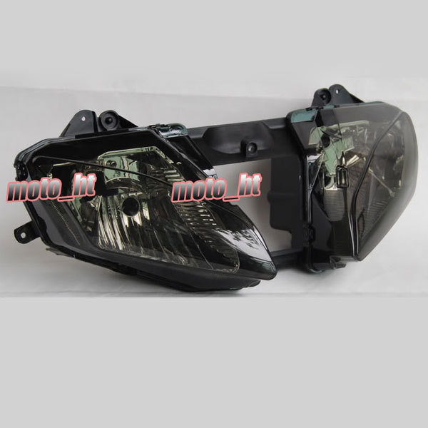 SMOKE Motorcycle Headlight for YZF R6 2006 2007, Black Front Head Lighting Lights Lamp China Motor Parts and Accessories(China (Mainland))