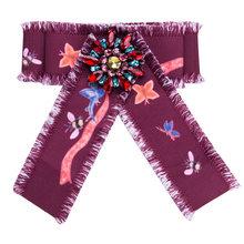 Bunga Kerah Pin Pins Bros Lencana Wanita Menenun Membawa Tussores Busur Bros Perempuan Bee wanita Pakaian Accessorie(China)