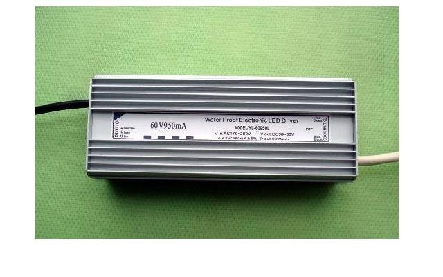 waterproof led constant current driver;AC90-250V input;output 950mA/60W;P/N:YL-60950L