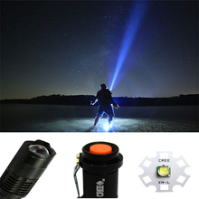 Cree LED Torch 2200LM CREE T6 LED Camping Light Flashlight Adjustable Focus Zoom Flash Torch Light For 2xAA Battery