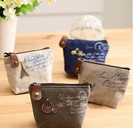 Christmas Gift New 2015 fashion Vintage Zipper Coin Purse wallets Mini bag Cheap Retro Classic Nostalgic Small Money Bags(China (Mainland))