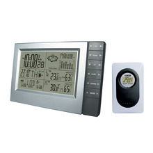 433MHz RCC Wireless Weather Station with Digital Clock Barometer and Indoor Outdoor Temperature Humidity