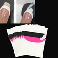 10pcs French Nail Art Tips 3 Style Nails Form Fringe Guides Sticker DIY Manicure Stencil tool
