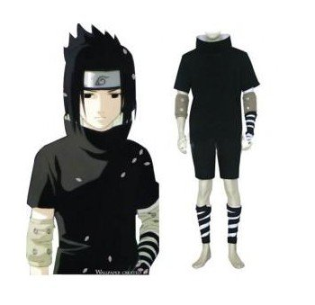 Anime Naruto Cosplay - Individual Naruto Shippuden Sasuke Uchiha 2nd Men's Cosplay Costume - Freeshipping(China (Mainland))
