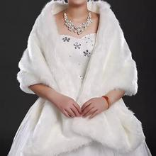 Warm White Red Faux Fur Bolero Jacket Wedding Cape Evening Dress Bridal Coat Accessories Wedding Cape Coat In Winter CK191(China (Mainland))