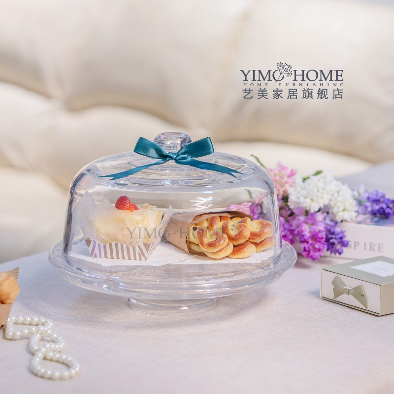 New Continental multifunction glass dust cover tray tall wedding cake Decoration candy jar dessert fruit plate (combination)(China (Mainland))