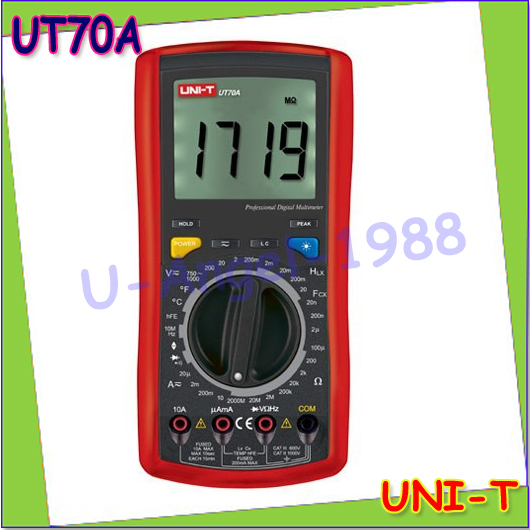 1pcs UNI-T UT70A LCD Digital Multimeter Volt Amp Ohm Temp Capacitance Inductance Wholesale free shipping<br><br>Aliexpress
