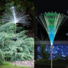 Fashion fiber optic ventress decoration lamp LED garden light solar LED outdoor decor light good light bulb for garden decor(China (Mainland))
