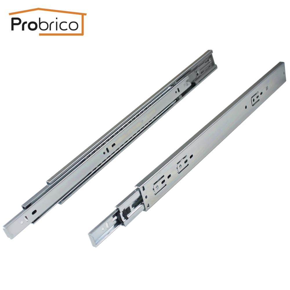 "Probrico 15 Pair 20"" Soft Close Ball Bearing Drawer Rail Heavy Duty Rear/Side Mount Kitchen Furniture Drawer Slide DSHH32-20A(China (Mainland))"