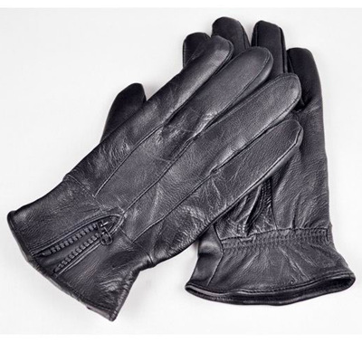 Leather Gloves For Men Winter Men's Black Leather Gloves