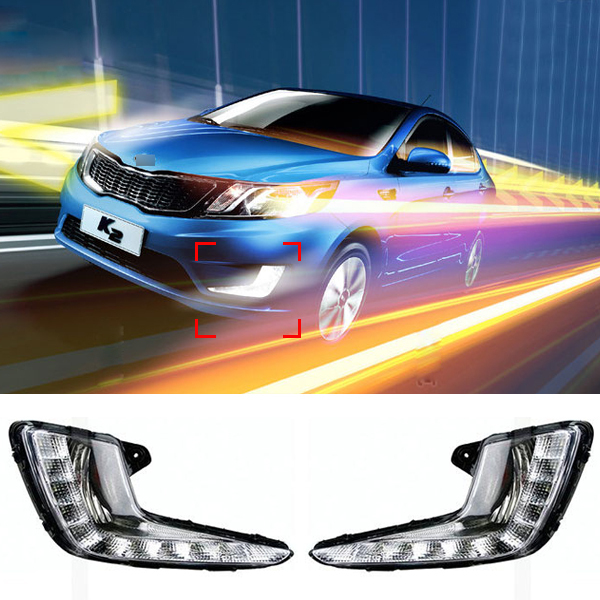 10 LED Car styling DRL For KIA K2 / RIO 2011 2012 2013 2014 Daytime running lights High quality Free shipping<br><br>Aliexpress