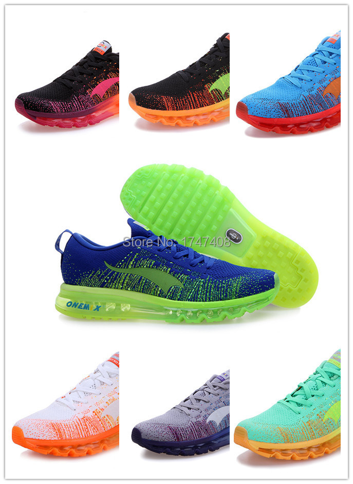 latest max 2015 Fly Running Shoes Knit new style Training Shoes Size 40-45 free shipping(China (Mainland))