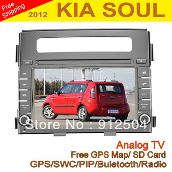 "Car DVD 6.2"" Car DVD for KIA SOUL 2012 with GPS Analog TV Radio RDS Bluetooth USB iPod"
