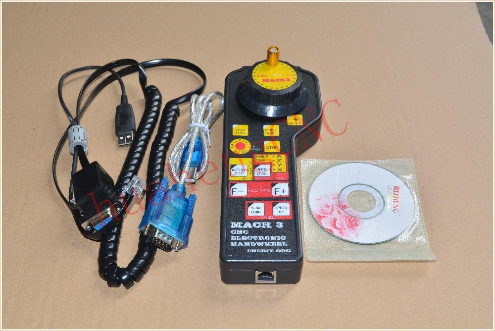 mach3 cnc usb Electronic Handwheel Manual Controller MODBUS MPG for modsmach3 engraving machine fittings #634-1(China (Mainland))