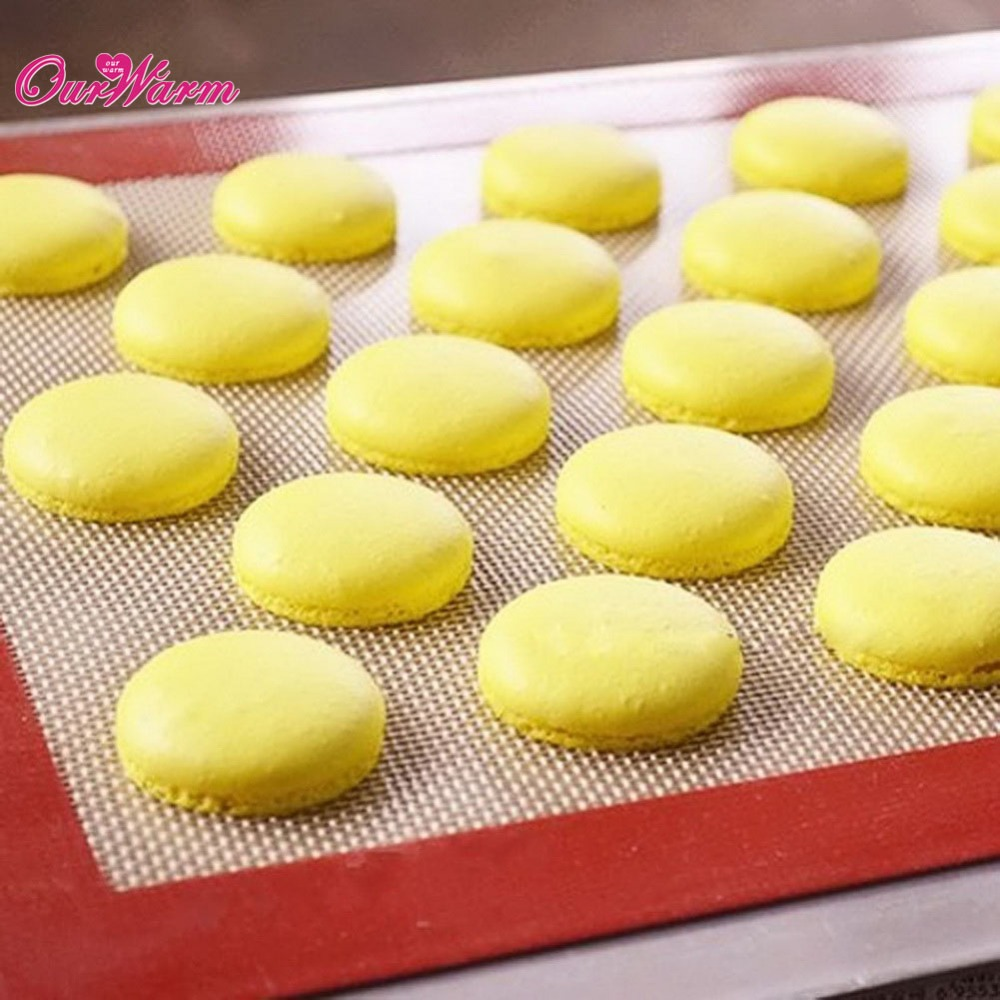 1 Piece Non-Stick Silicone Pastry Bakeware Baking Mat Tray Oven Dough Rolling Liner Sheet White/Khaki Color Optional(China (Mainland))