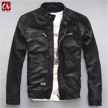 2016 new fashion Men's Genuine leather jacket men motorcycle jacket  Retro Men's sheepskin Genuine Leather Jacket Coat(China (Mainland))